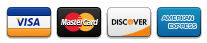 Icons for Visa Card, Master Card, Discover Card, and American Express Card
